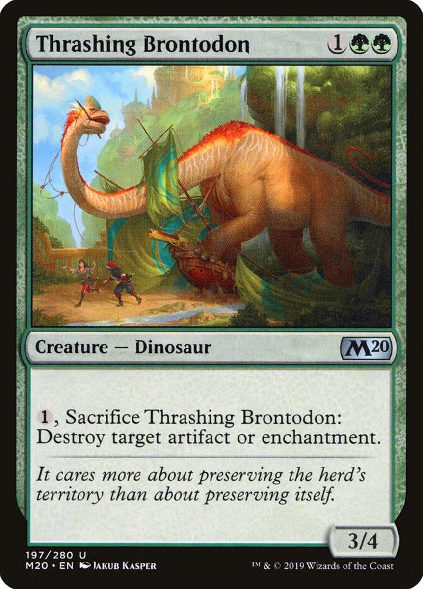 Thrashing Brontodon mtg