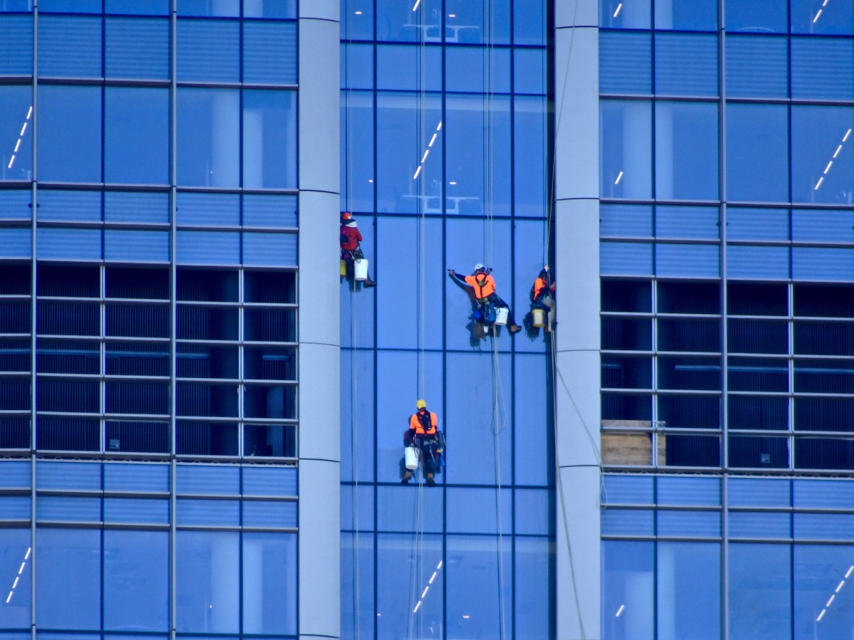 Most people don't realise that window cleaners also have to clean the insides of windows