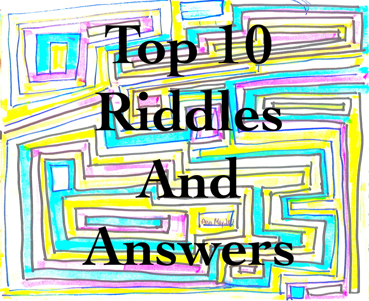 This article lists 10 fun, challenging riddles and their answers