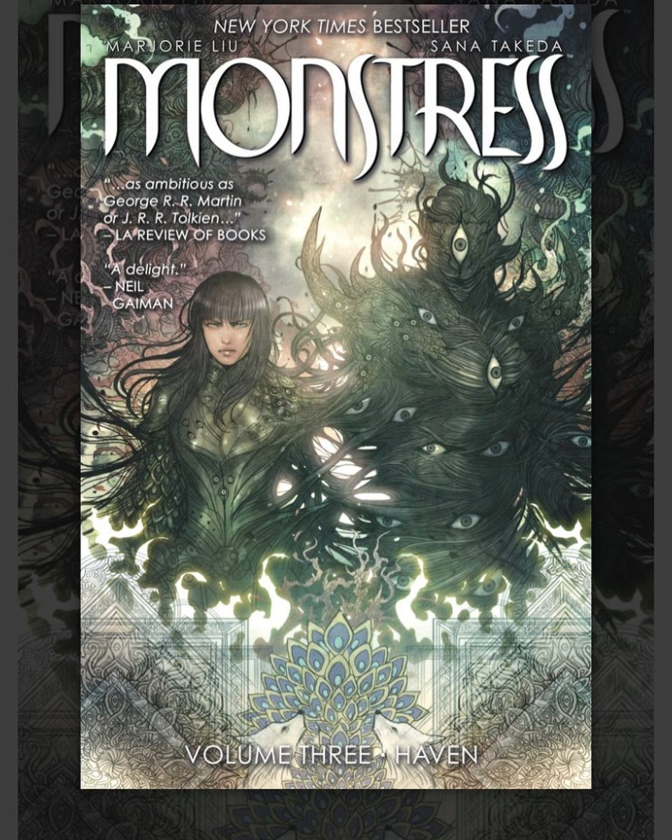 Cover of Monstress, Volume 3: Haven. Art by Takeda.
