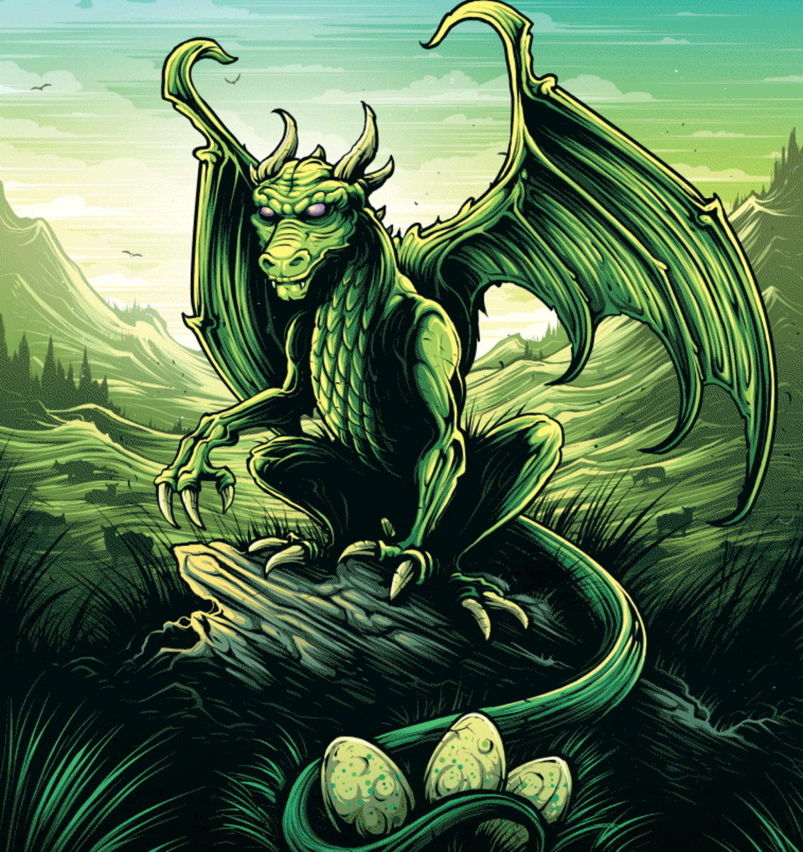 Common Welsh Green Dragon