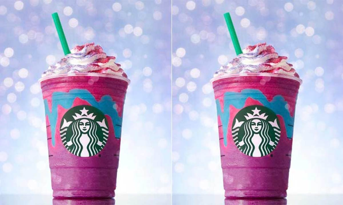 """In 2017, Starbucks introduced the """"Unicorn Frappuccino,"""" which quickly became a social media fad."""