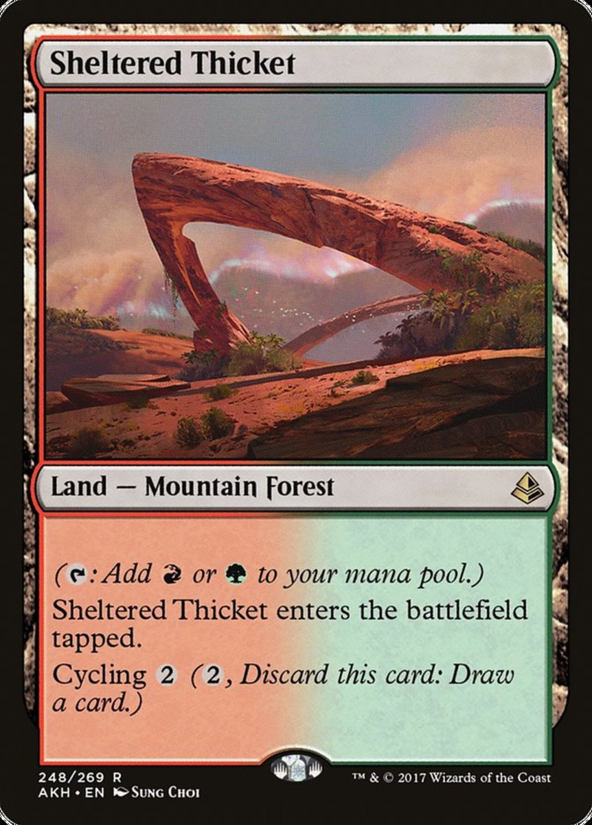 Sheltered Thicket in Magic: The Gathering