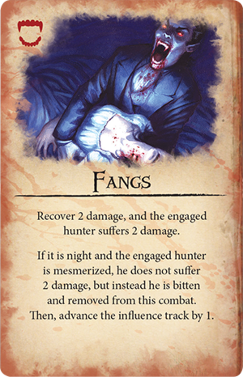 Dracula's Fangs card