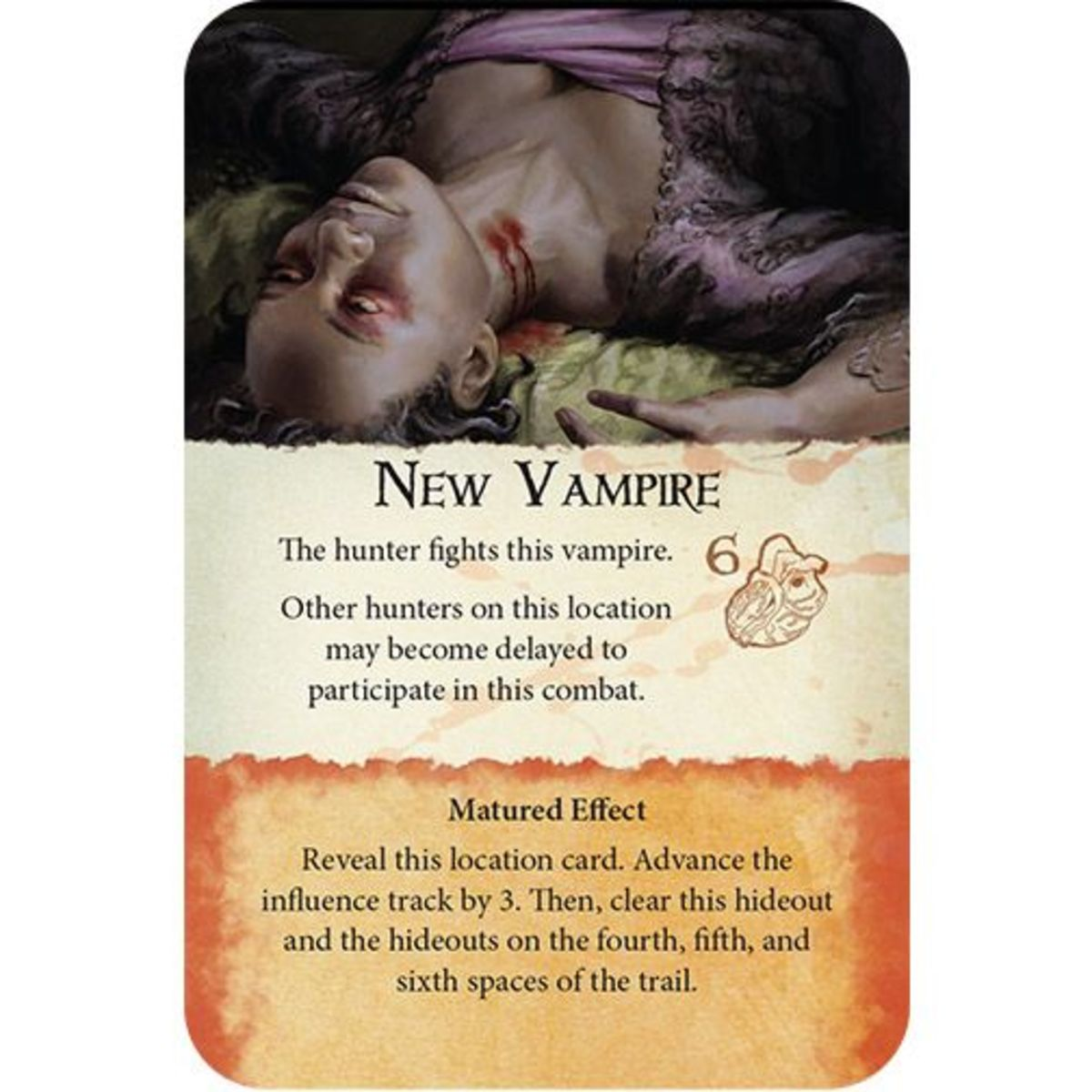 One of Dracula's event cards
