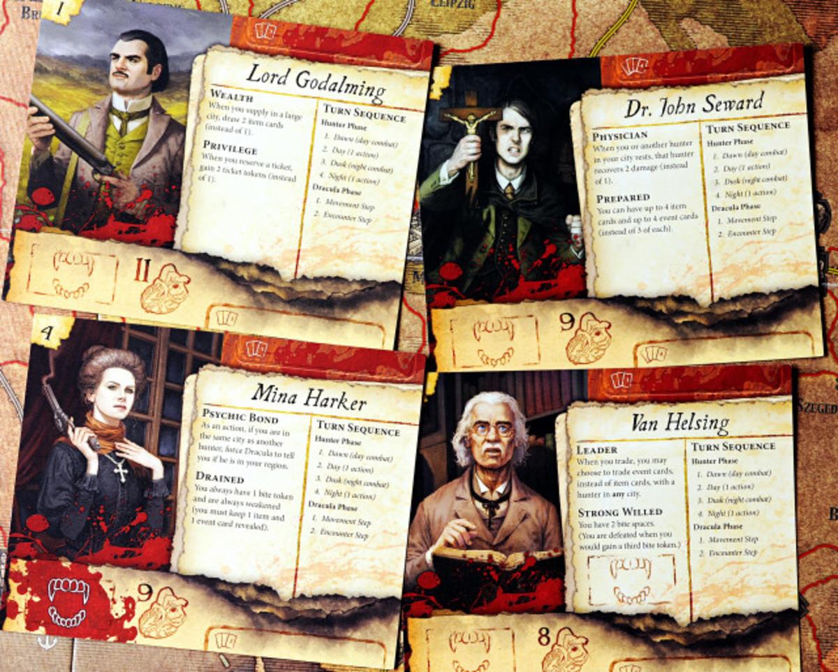 Fury of Dracula hunter cards