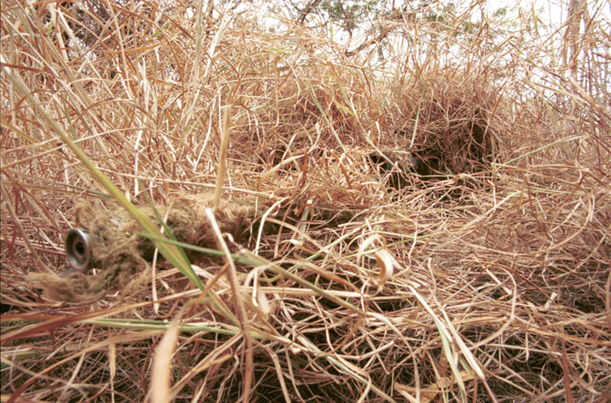 This picture is obviously of a sniper, but he has used good fieldcraft to keep himself hidden. Birders should look to use similar techniques in order to remain hidden from the bird they are watching.
