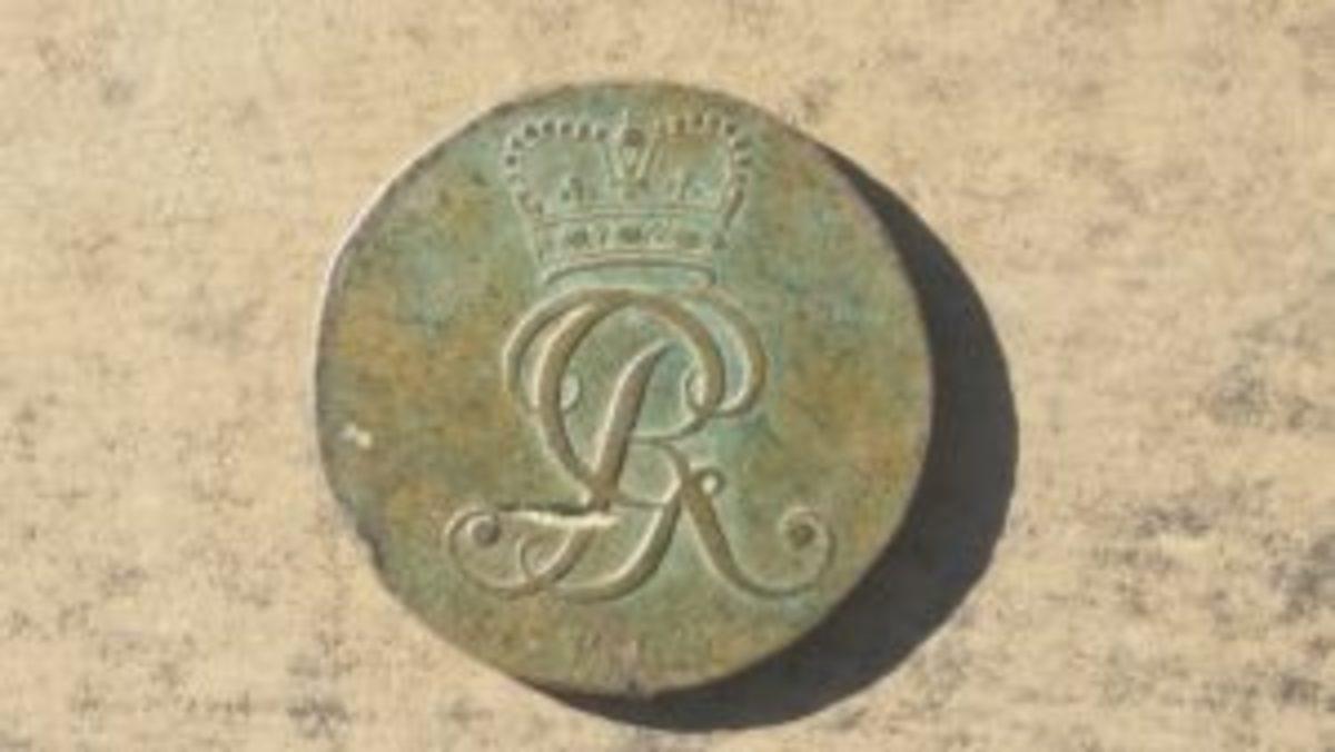 The other side of the 1795 4 pfennig coin I found.