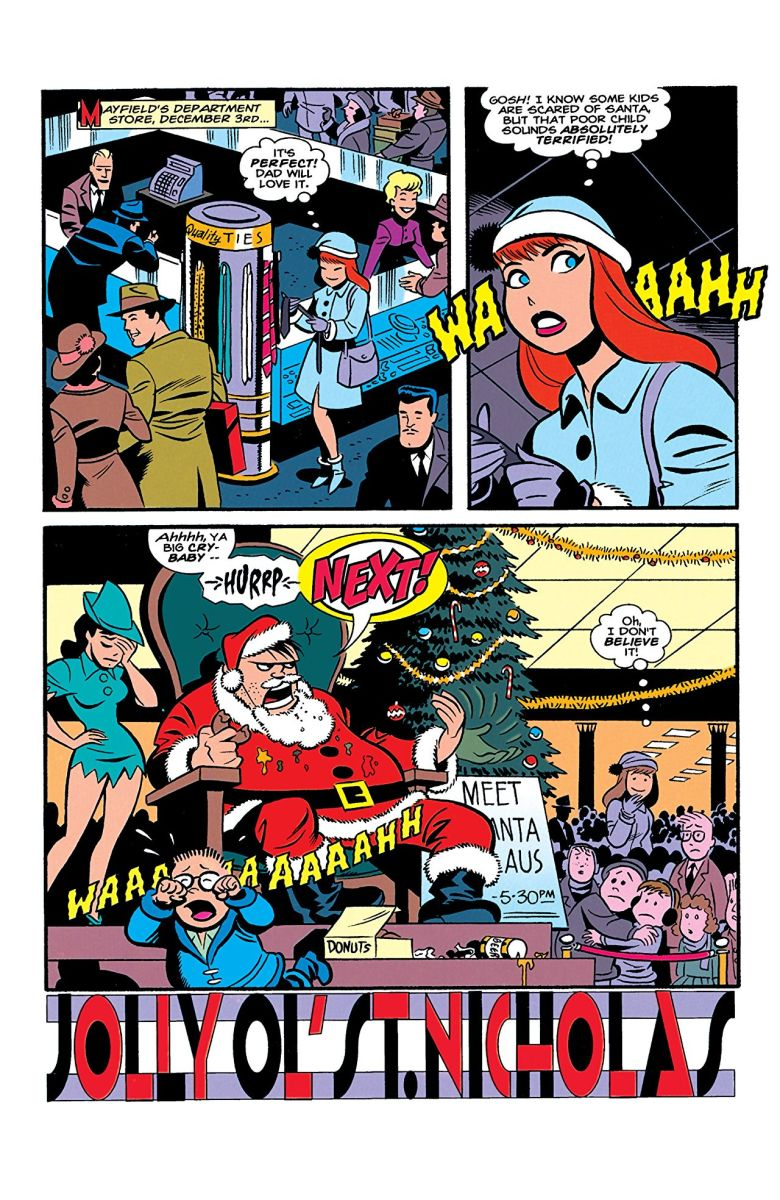 "Page from ""The Batman Adventures Holiday Special"" by Paul Dini and Bruce Timm."