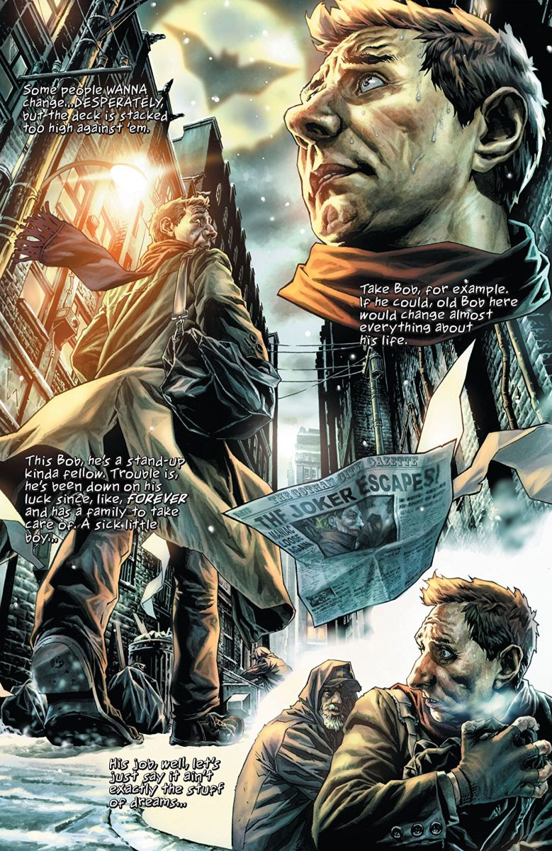 "Page from ""Batman: Noel"" by Lee Bermejo"