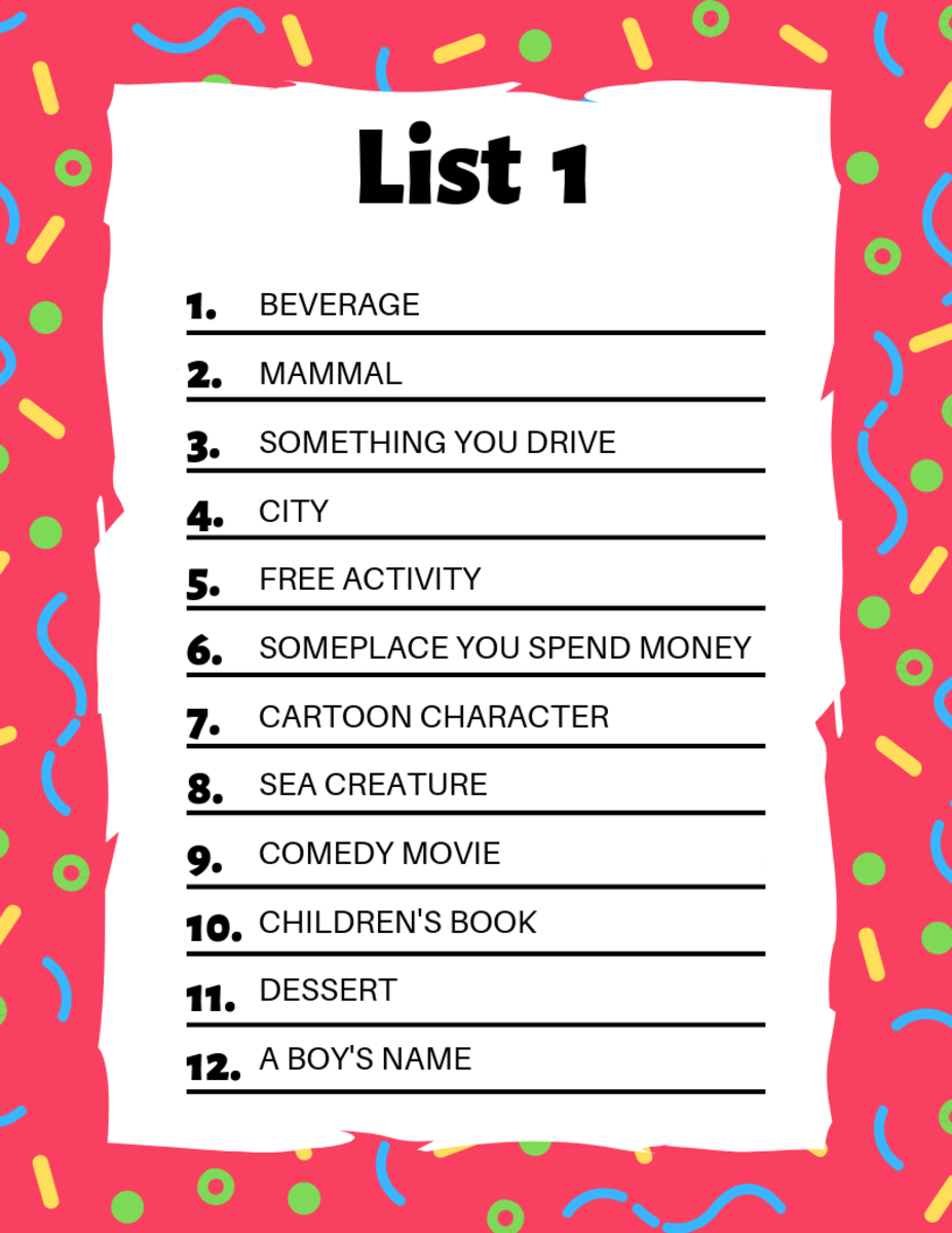 image about Scattergories Answer Sheets Printable identified as Scattergories Lists towards Engage in With Your Buddies HobbyLark