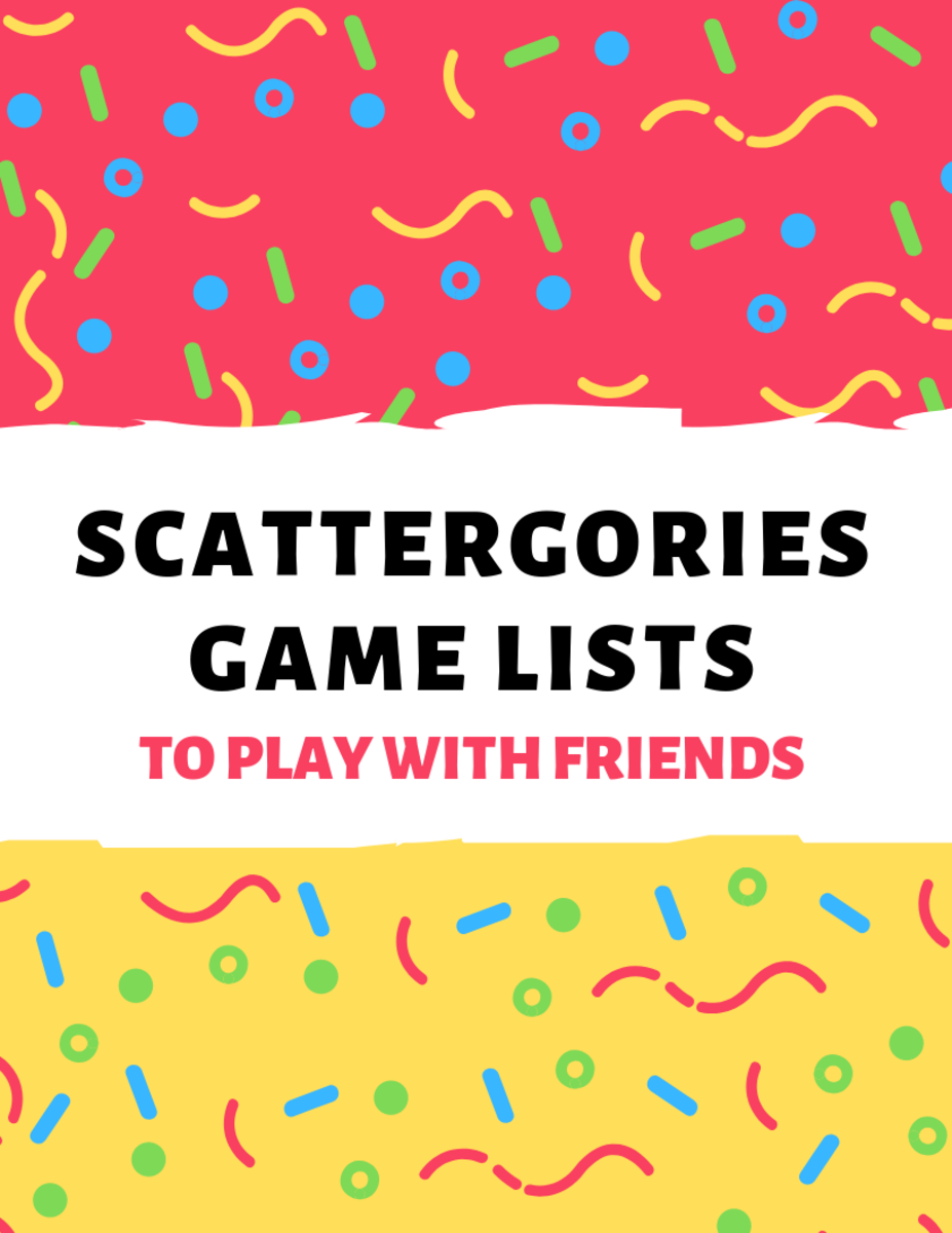 Scattergories Lists to Play With Your Friends