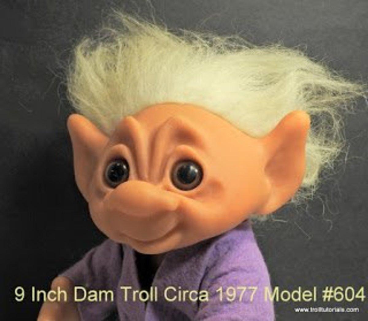 This Dam troll (circa 197) has synthetic hair.