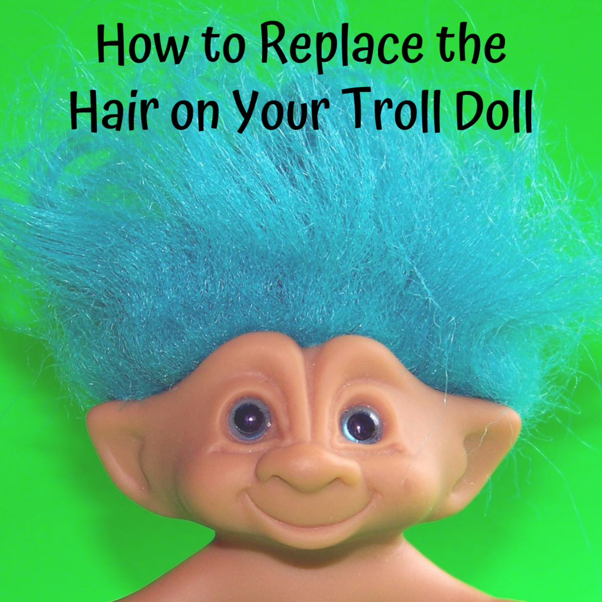 This article will show you how to replace the hair on a troll doll.