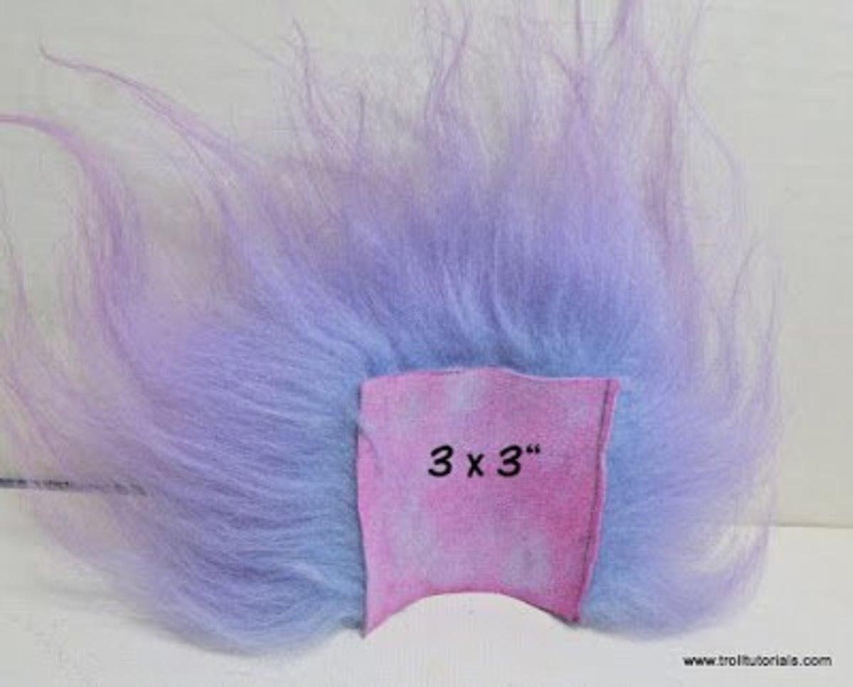 """Icelandic sheepskin troll wig 3 x 3"""""""