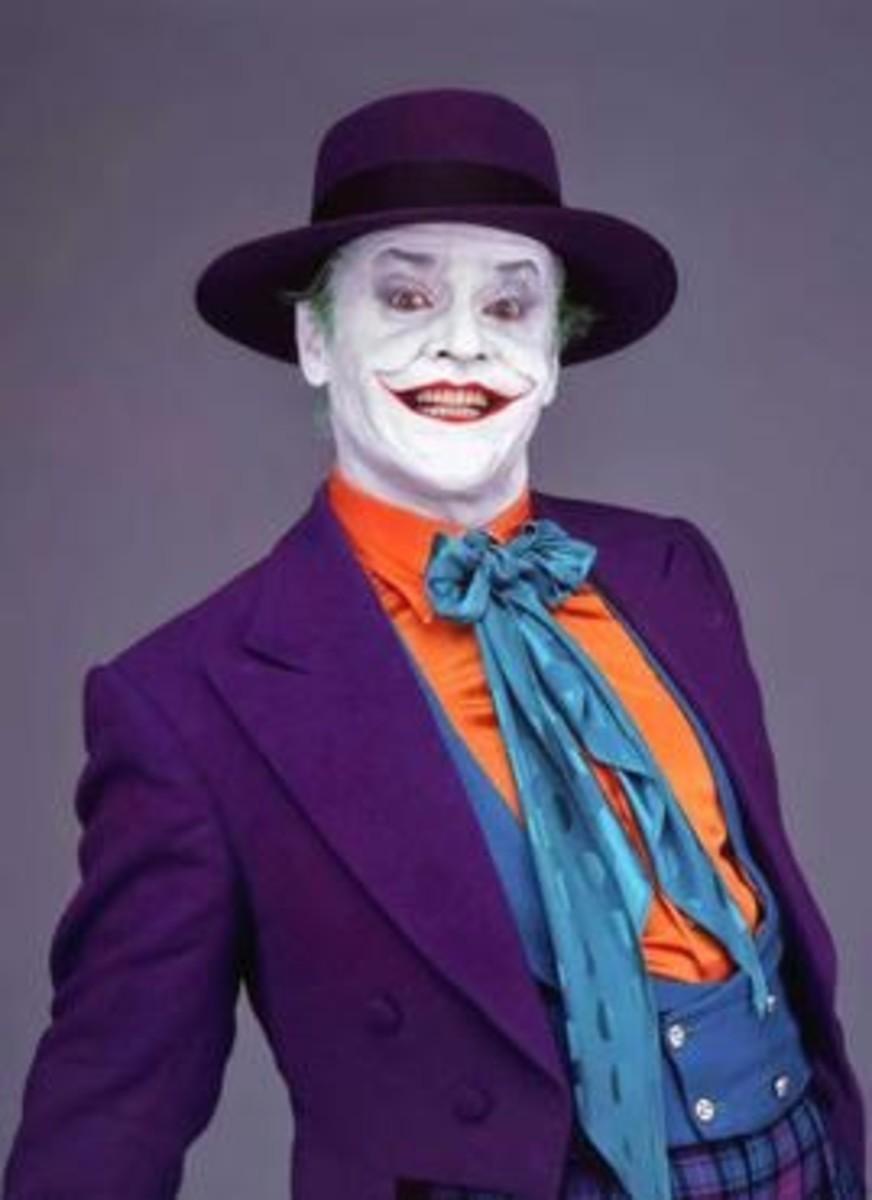 Jack Nicholson as the Joker in Batman 1989.