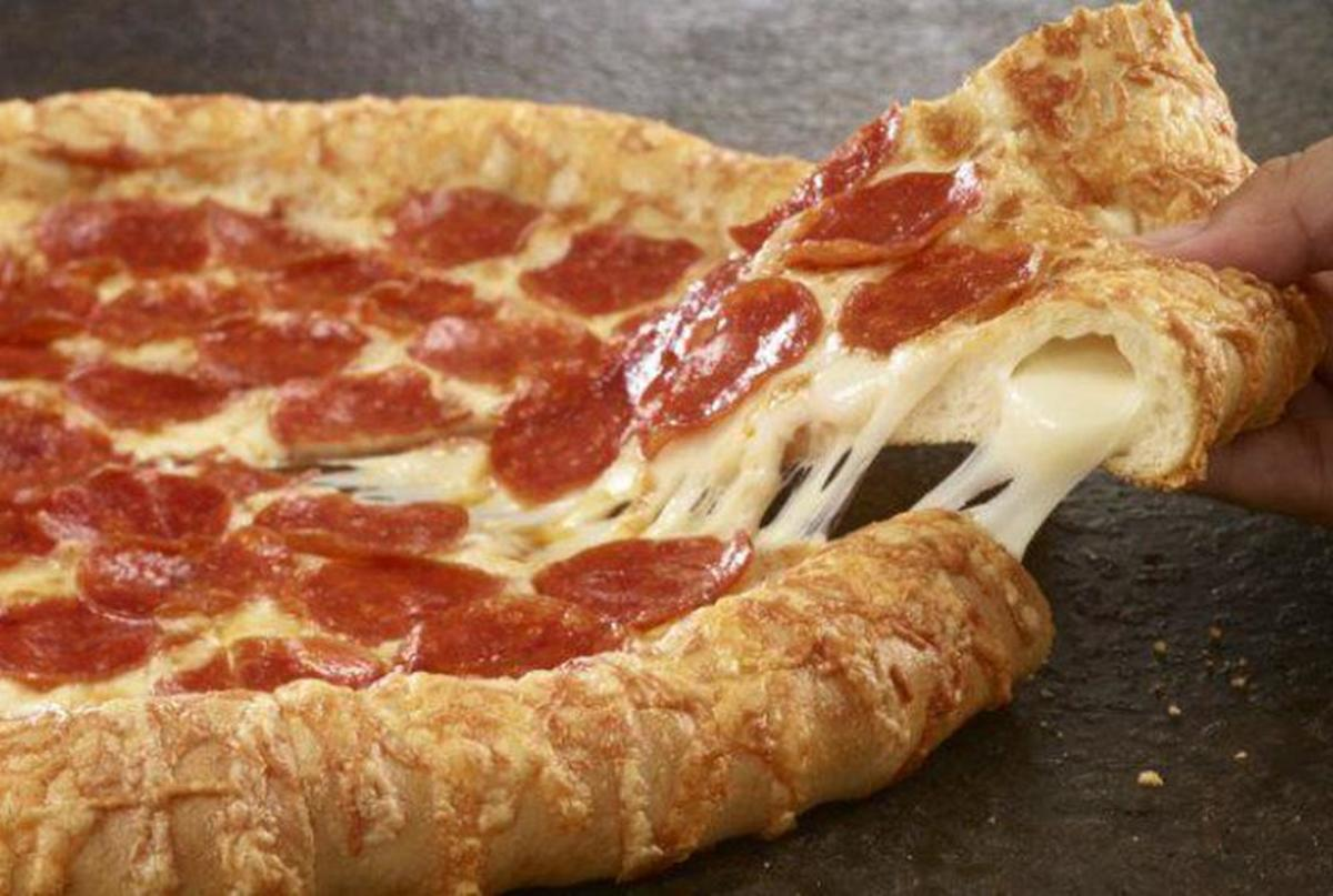 "In 1995, Pizza Hut launched its ""Stuffed Crust Pizza."""
