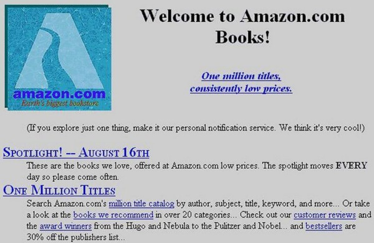 In 1995, Amazon.com opened for business.