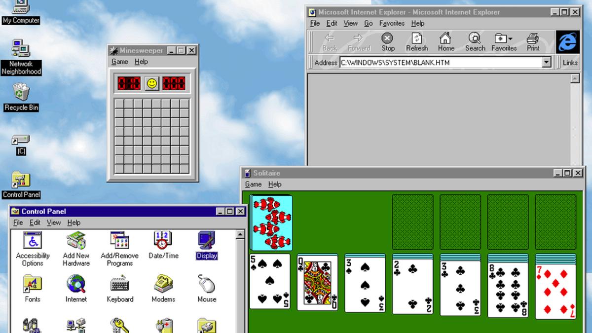 In 1995, Microsoft released Windows 95.
