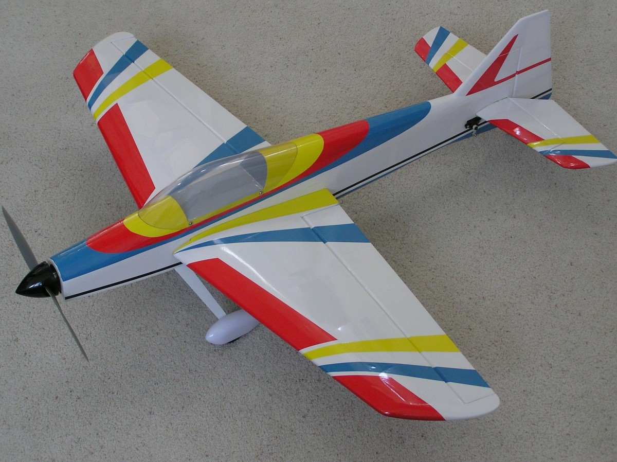 Remote control model airplane.