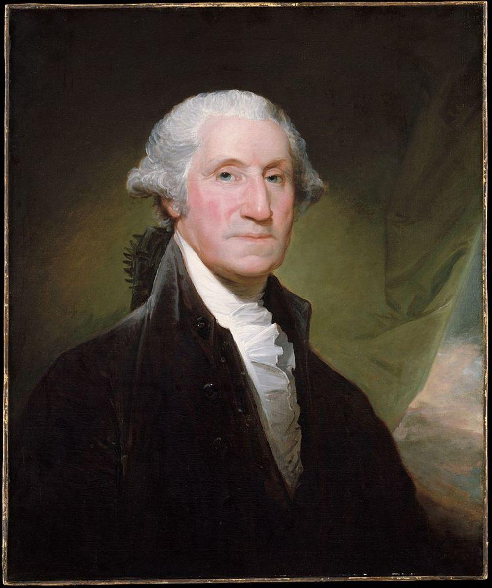 George Washington: False teeth but real hair.