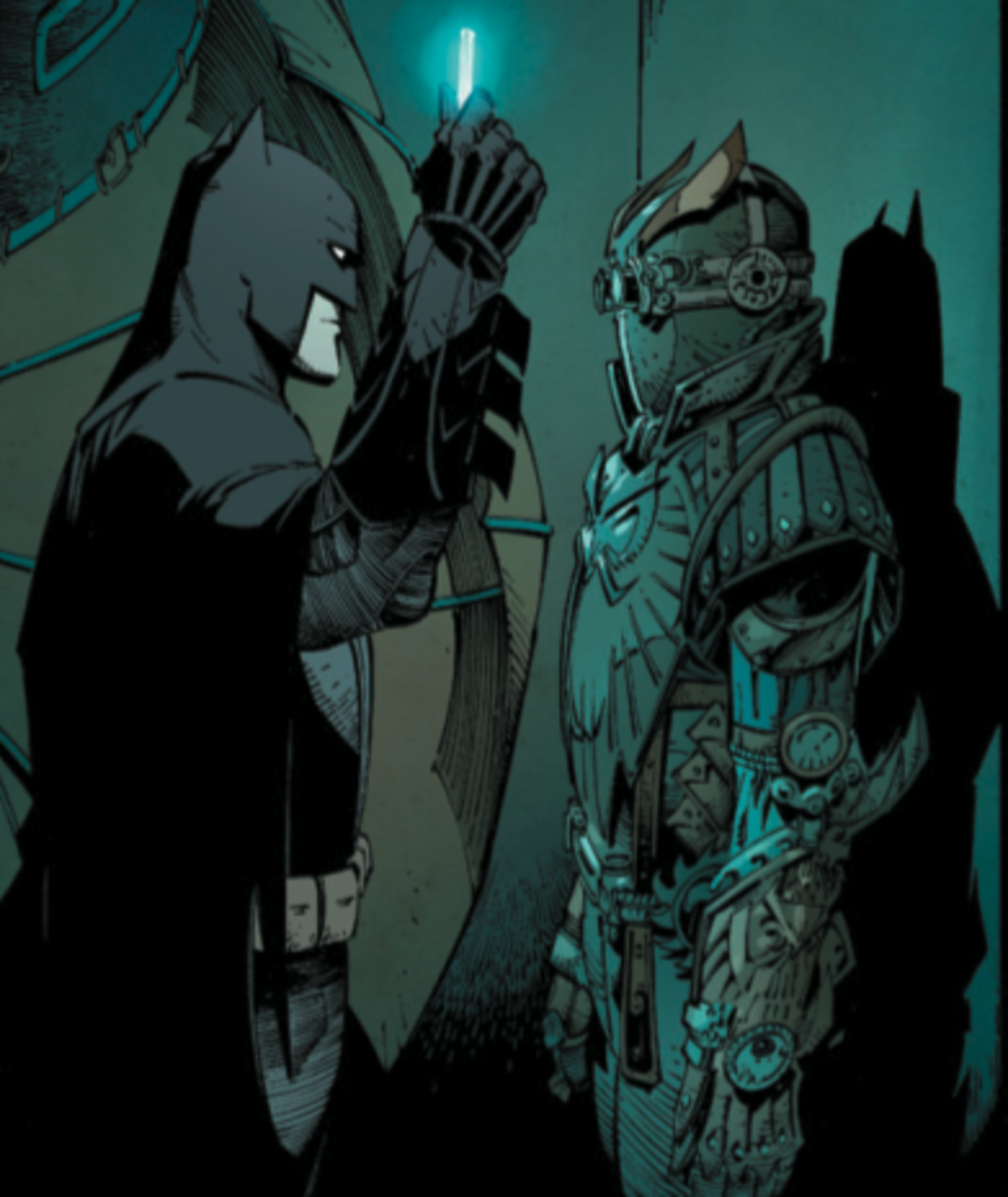 Batman investigating the Court of Owls.