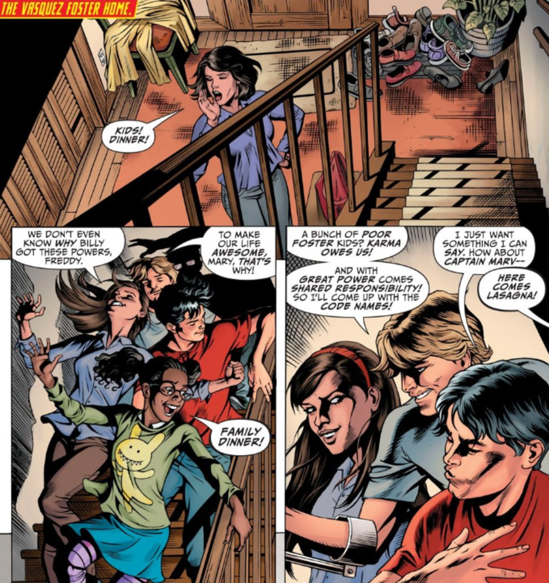 "Page from ""Shazam"" #1 Art by Dale Eaglesham and Mayo ""SEN"" Naito"
