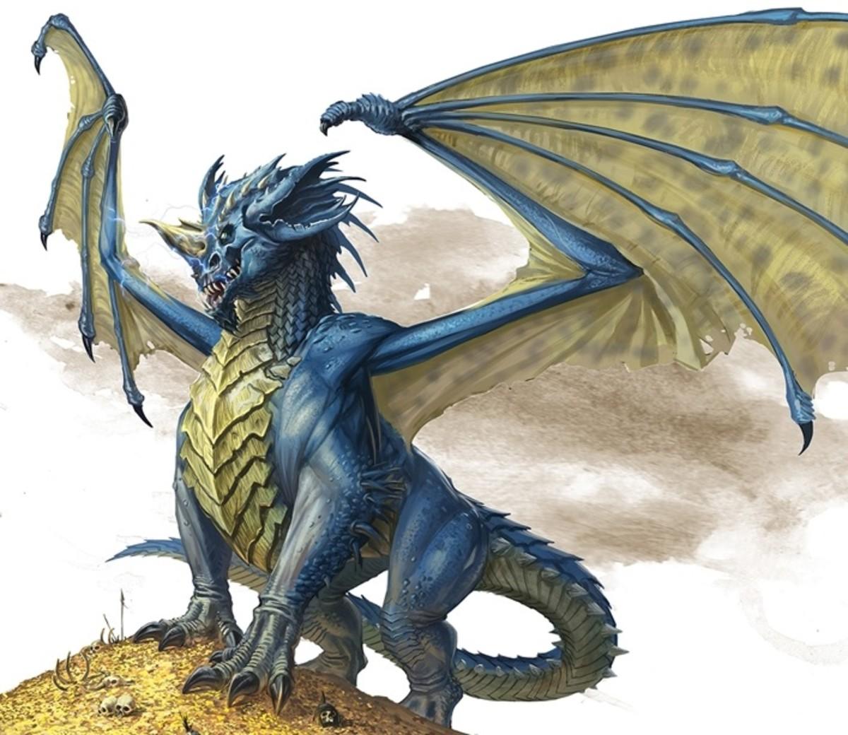 Ancient Blue Dragon DnD