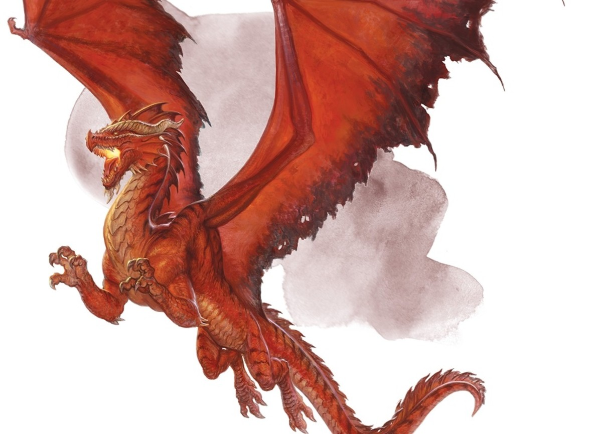 Ancient Red Dragon DnD