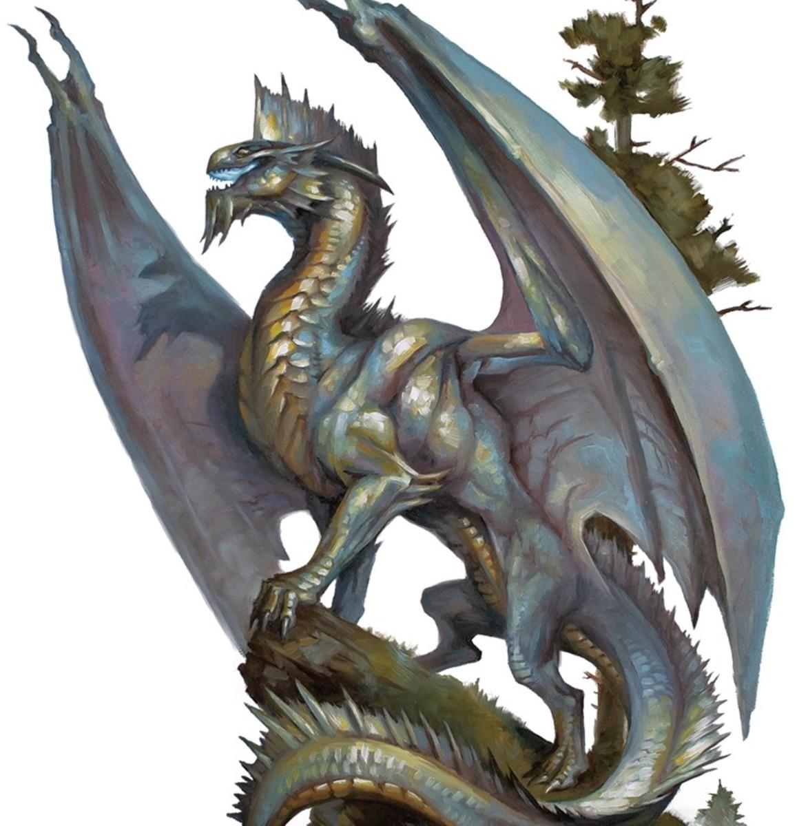 Ancient Silver Dragon DnD
