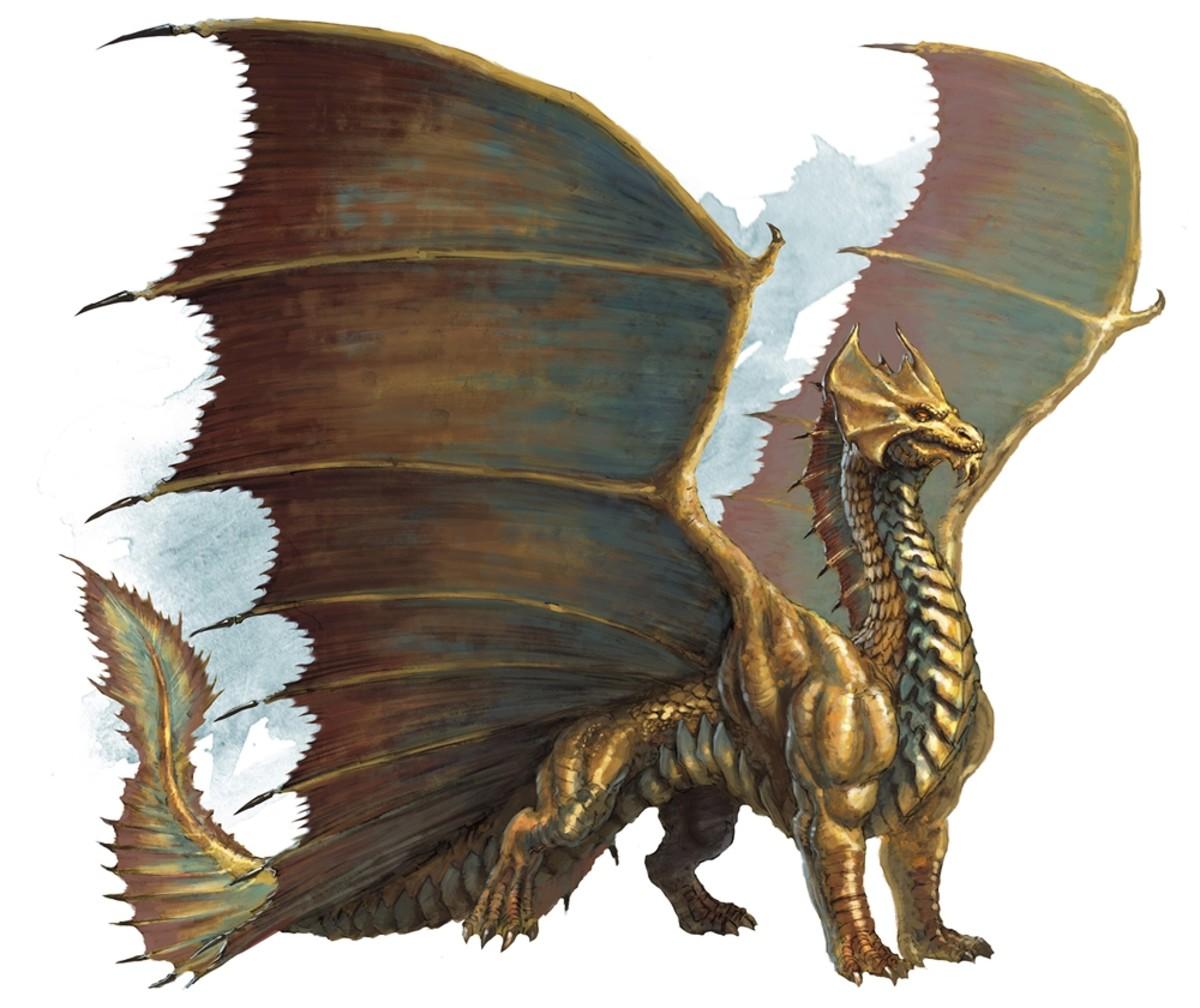 Ancient Brass Dragon DnD