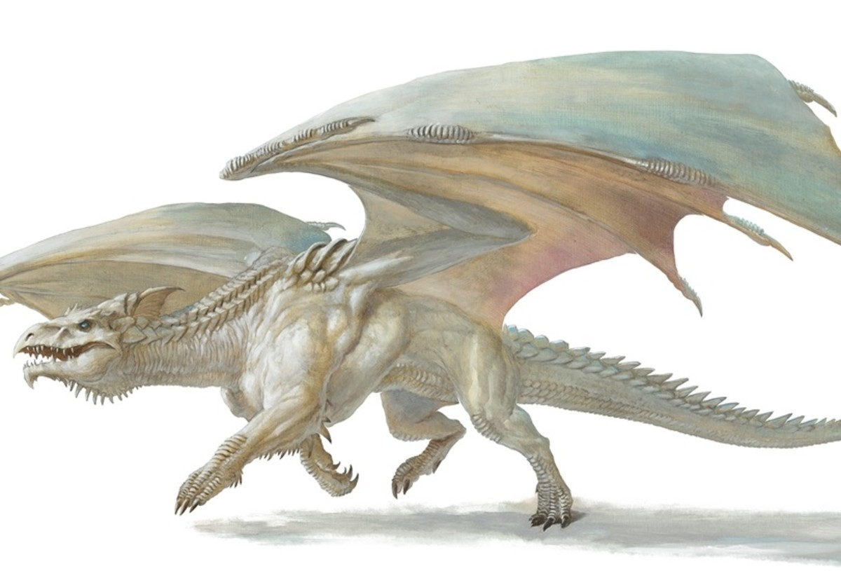 Ancient White Dragon DnD