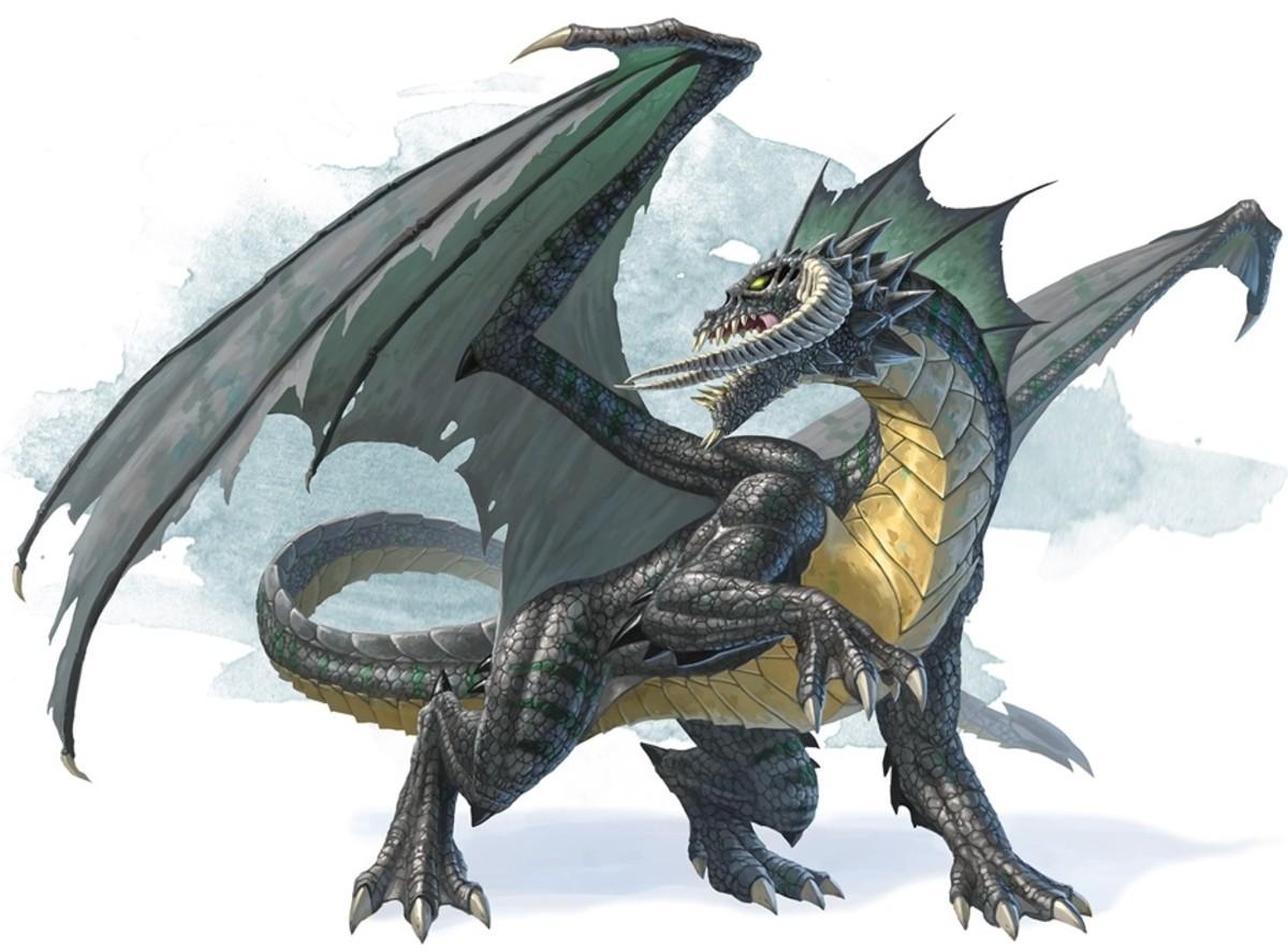 Ancient Black Dragon DnD