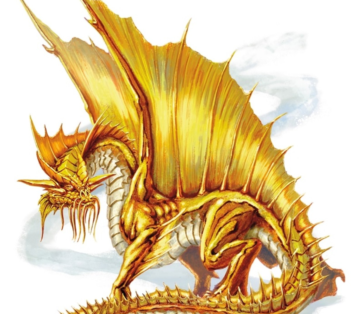 Ancient Gold Dragon DnD
