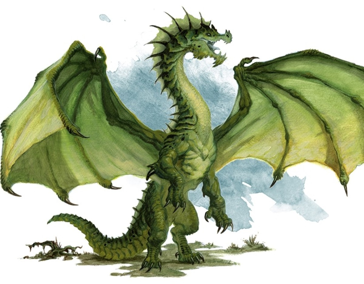 Ancient Green Dragon DnD