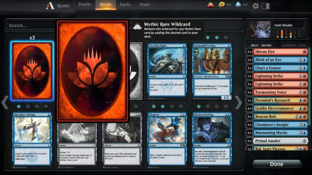 Deck-building in MTG Arena