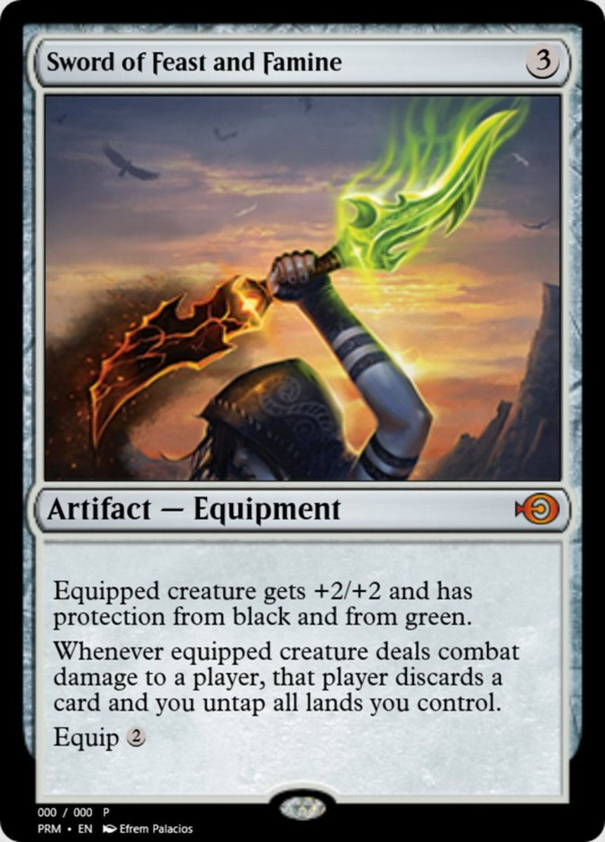 Sword of Feast and Famine mtg