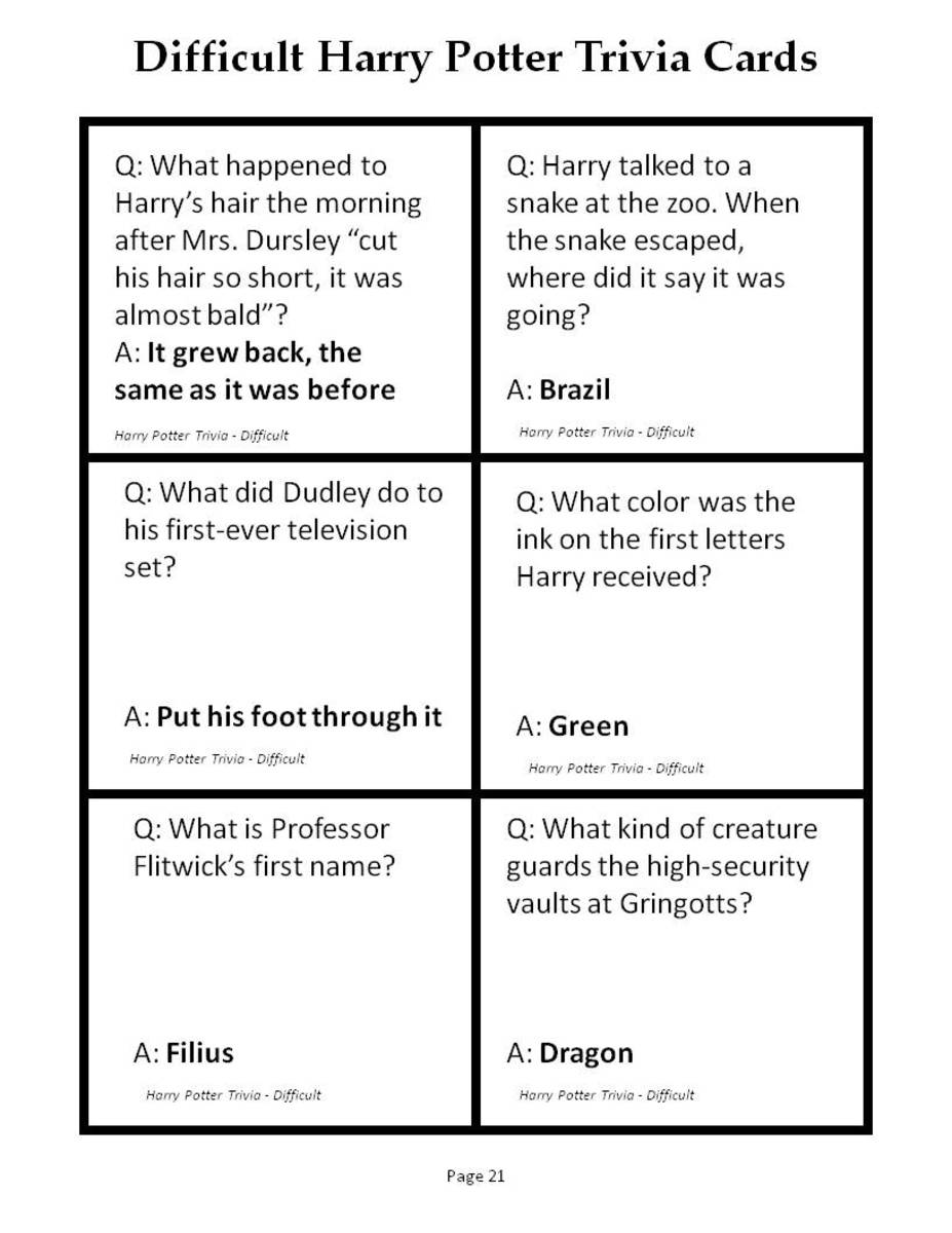 photo about Printable Trivia Questions called 180 Printable Trivia Queries for Harry Potter and the