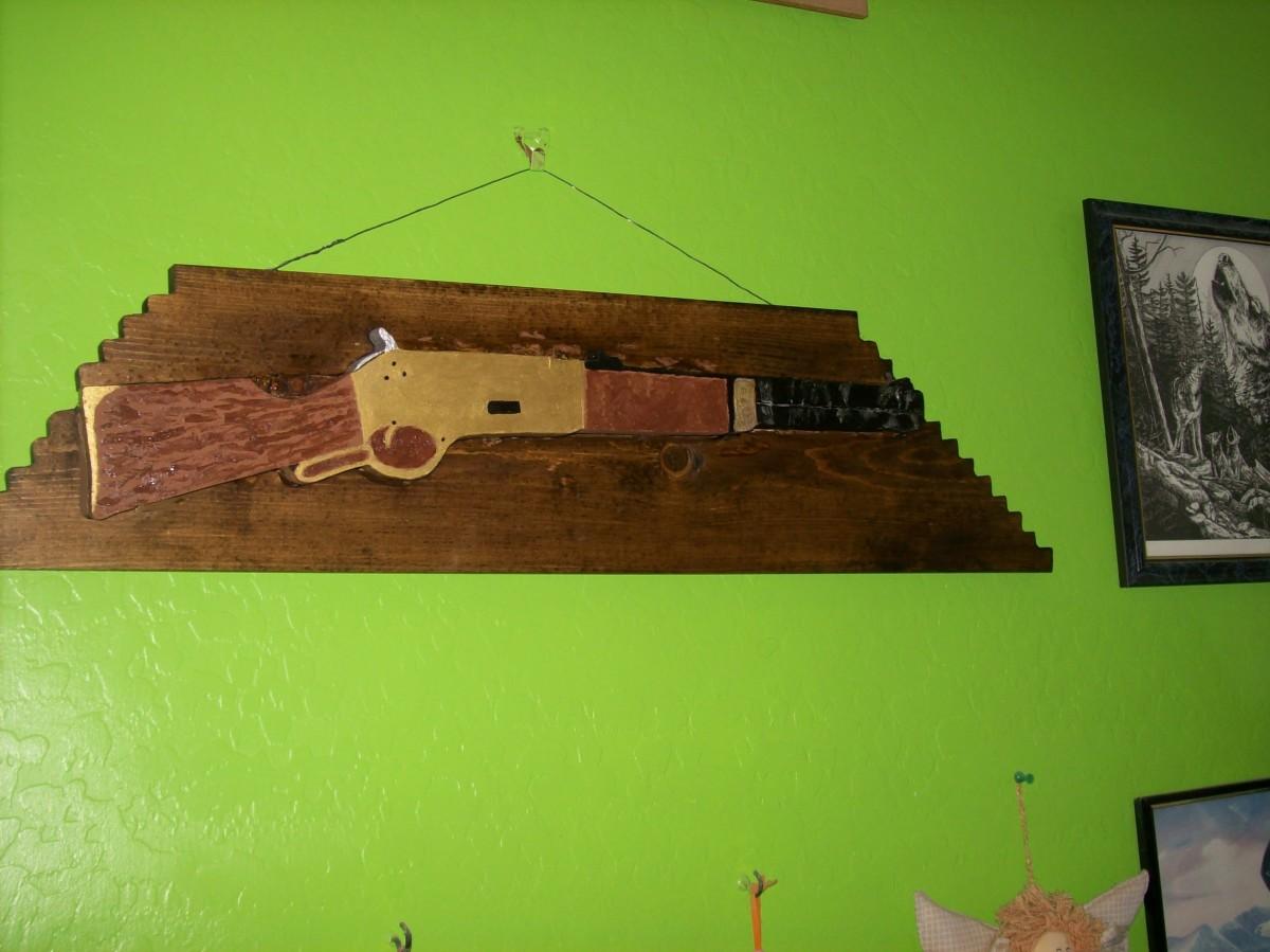 Finally it hangs on the wall.
