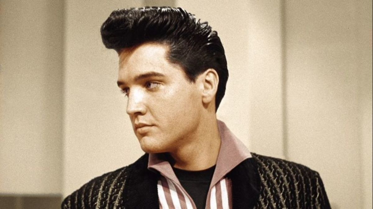 In 1993, a postage stamp commemorating Elvis Presley went on sale.