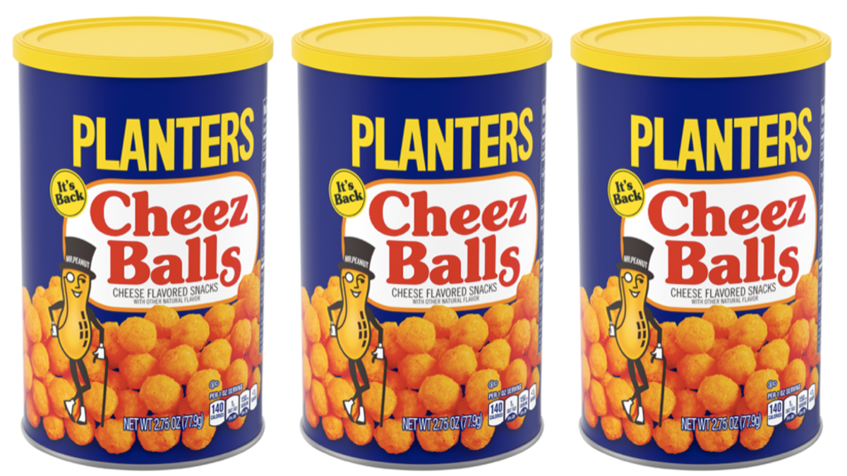 In 1993, Planters Cheez Balls was a favorite snack food.