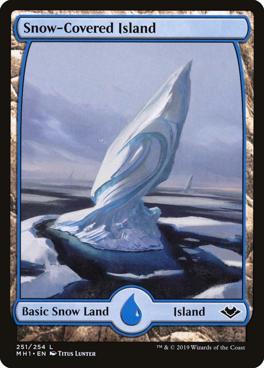 Snow-Covered Island mtg