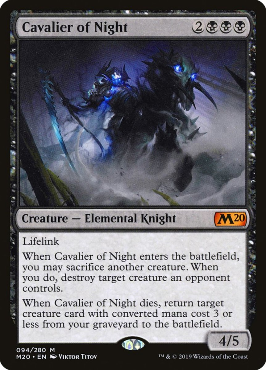 Cavalier of Night mtg