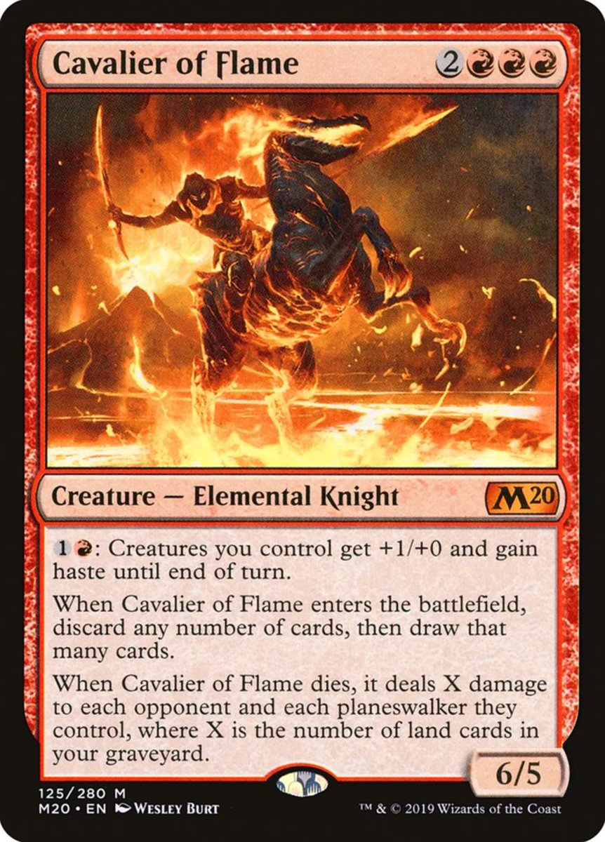 Cavalier of Flame mtg