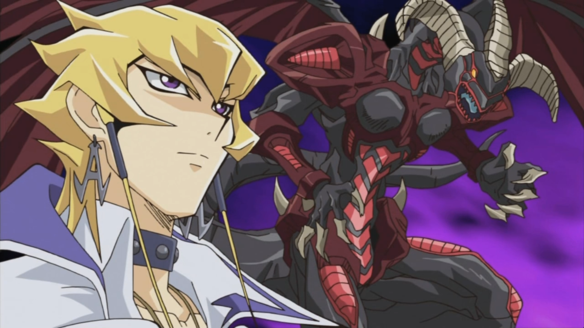 Jack Atlas with Red Dragon Archfiend