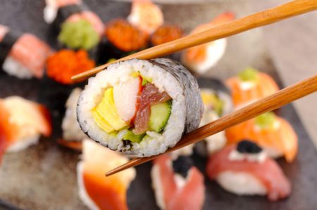 In 1985, sushi was a popular food trend.