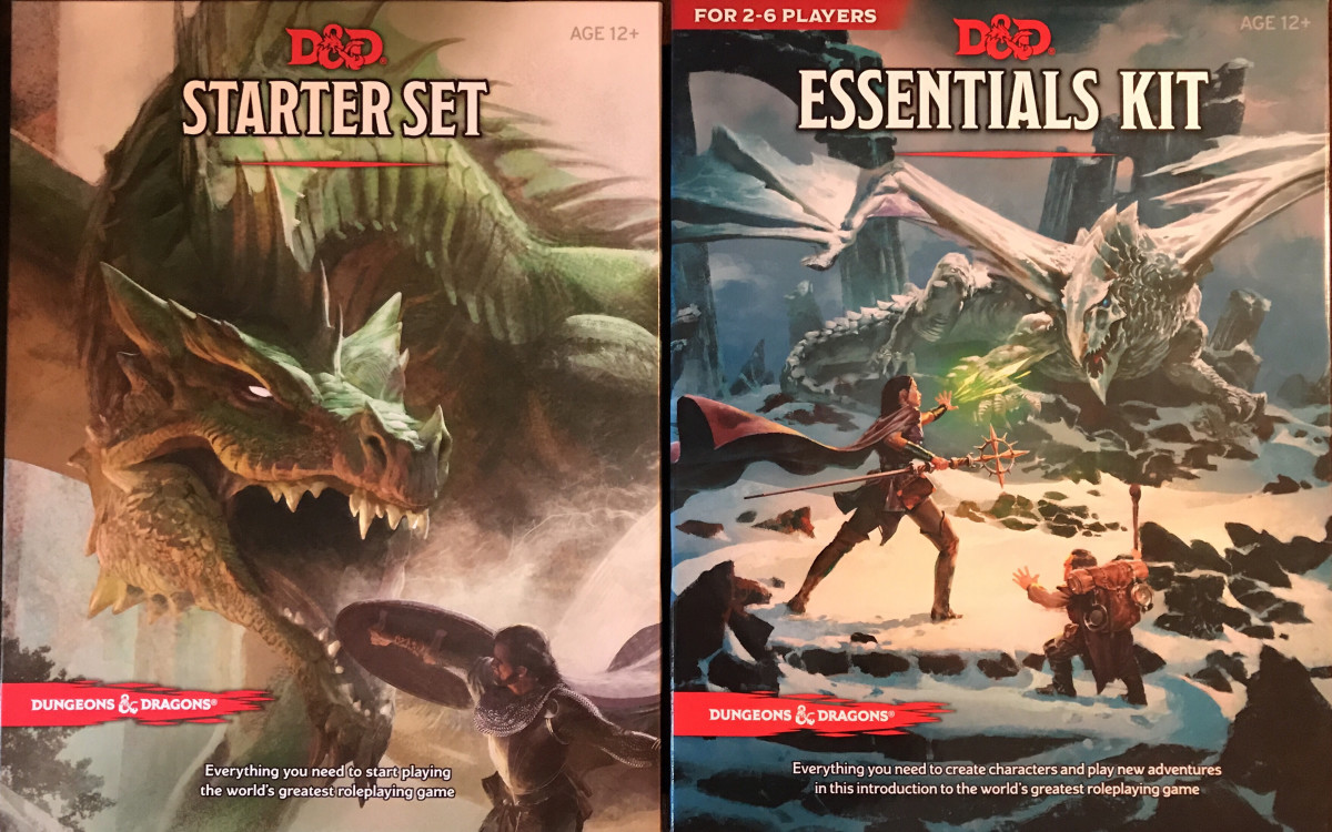 """Dungeons and Dragons"" Starter Set vs Essentials Kit"