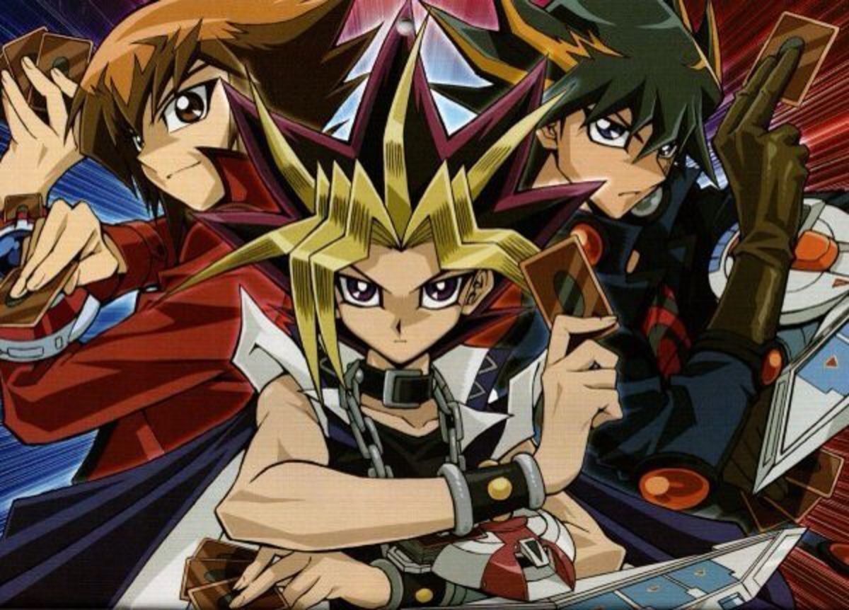 Jaden, Yugi, and Yusei