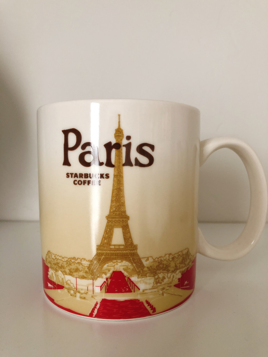Paris known as a City of Light. This mug was purchased my husband on his way to Germany for work.