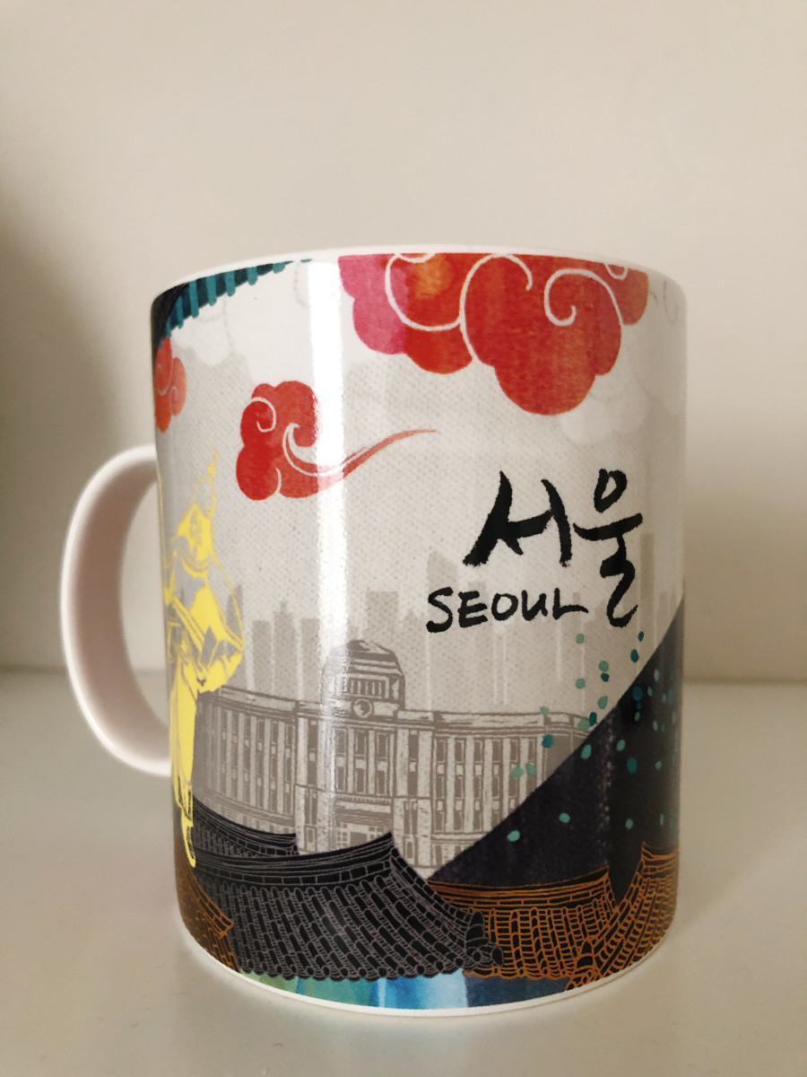 This mug was purchase by my husband while he was in Seoul, South Korea.